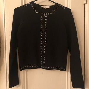 Sandro Black Jacket with Silver studded hardware S